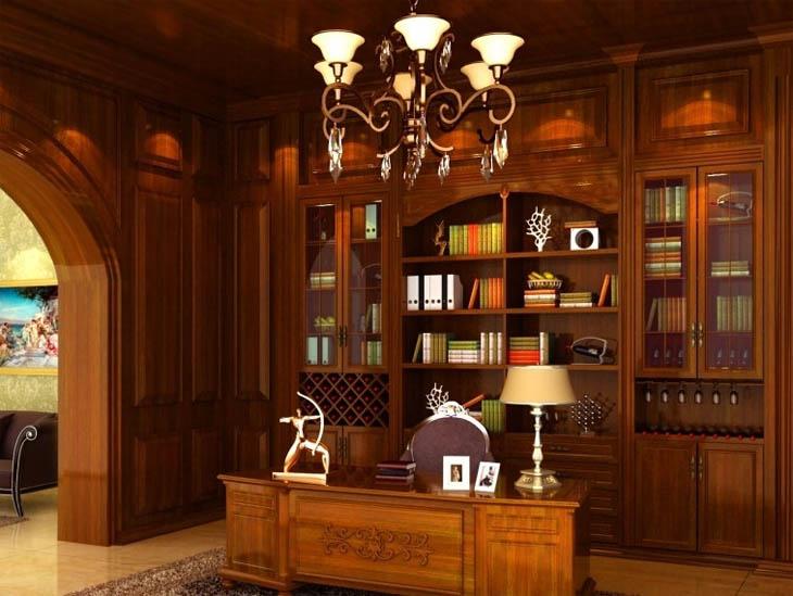 书房实木整装案例